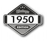 VIntage Edition 1950 Classic Retro Cafe Racer Design External Vinyl Car Motorcyle Sticker 85x70mm
